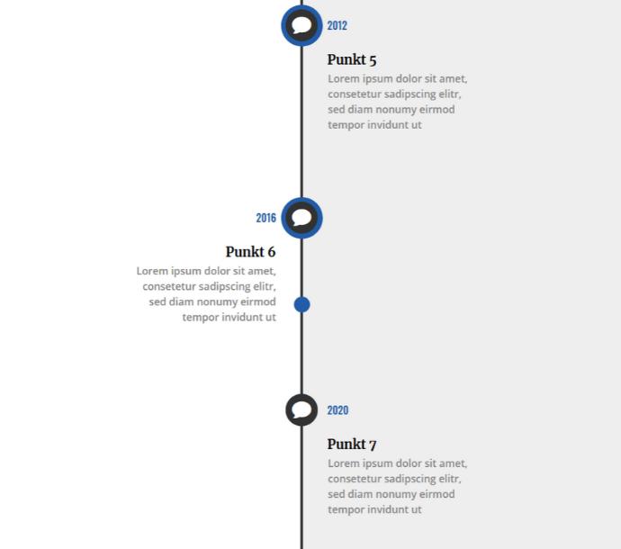 Design: Animierte Timeline (Scroll-Effekt #03)