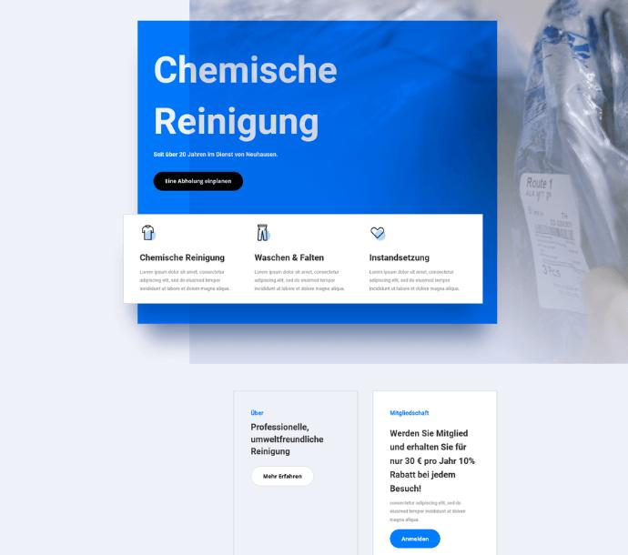 Design: Chemische Reinigung